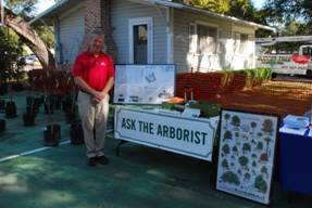 Figure 2: Ask the Arborist Table at Treebute