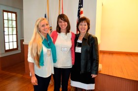 Students, Sheila Scolano and Jules NeSmith and Advisor, Amy Alexander