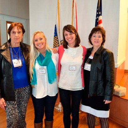 WGC member, Jocelyn Deprez with students, Sheila Scolano and Jules NeSmith and Advisor, Amy Alexander
