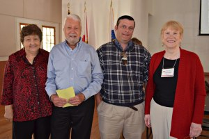 Left to right: President Peggy C., Speaker Jim Thomas, Jim's associate Zen Silva, 1st VP Jill T.