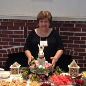 President Peggy C. at refreshment table