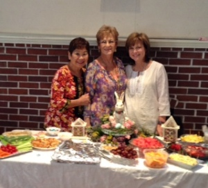 Our April 2014 general meeting hostesses who did a great job with the decorations and refreshments. Left to right: Marie H., Joan Y., Clare D.