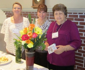 L to R: Colleen C., Eleanor N. and President Peggy