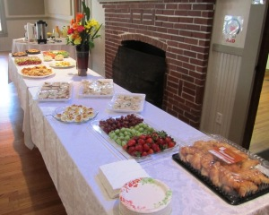 Quite a spread, great job hostesses