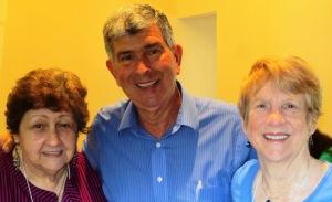 L to R: President Peggy, Speaker Tom MacCubbin, 1st VP Jill T.