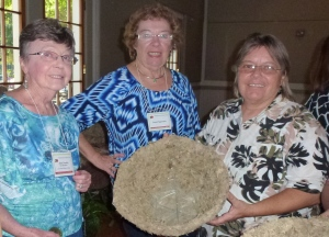 Left to right: Members Joan P. and Janet S. with Speaker Joyce Brown