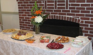 Hostesses Cannon S., Carolyn G. and Carolyn R.  did a great and yummy job with our refreshment table.