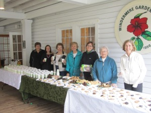 Left to right- President Peggy C., Dori B., Janet S., Bonnie B., Vicki H., New Member, Angela W.
