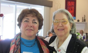 New member Maria M. with Special and Arbor Day Chairman Jackie R.