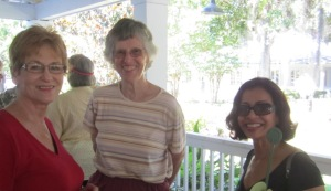L to R: Joan Y., Dot B., and Sumita G.