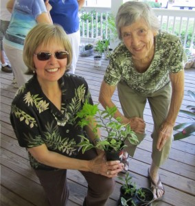 L to R: Carol W. and Leah D.