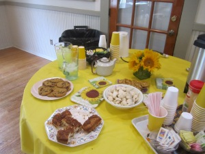 Some of the great snacks that the hostesses provided the club.