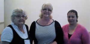Left to Right: 1st VP Mary B., Betty J's Florist Owner Rilla Tomyn, and Mary Beth.