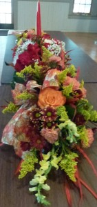 Autumn floral design by Betty J's Florist of Ocoee, FL. Photo by Maureen T.