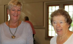 Member Phyllis M. on the left and Recording Sec. Janet S. on the right.