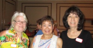 L to R: Denise H., Maria H. and 2nd VP Maureen T.