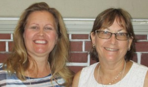 Left is Hostess Carolin W. and right is hostess Vicki H.
