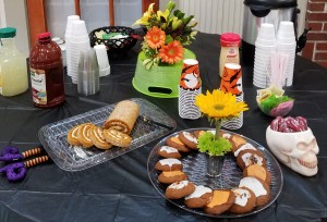 Yummy snacks and creative decorations