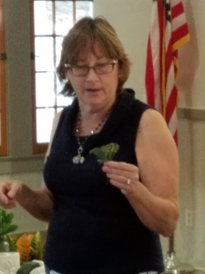 Our speaker and member Vicki H.
