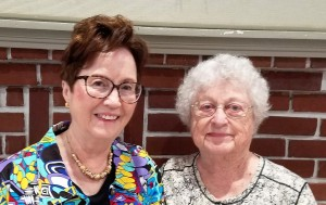 Hostess Carolyn R. on the left and Hostess Shirley M. on the right.