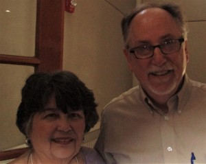 L to R: Member Sharon R. and University of Florida Professor Dr. Charles Guy
