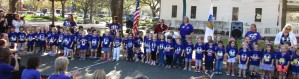 Windermere Union Church Preschool students with their teachers and Arbor Day co-chairman Jackie Rapport
