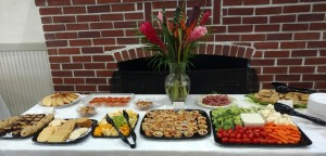 Wonderful snacks provided by Ceme C., Tanya C. and Bonnie B. Floral design by Ceme C.