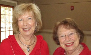 Left is Hostess Maggie K. and right is Hostess Marlene G.